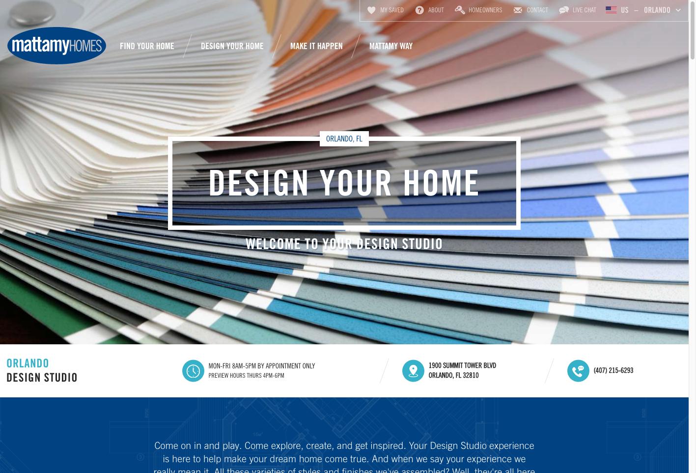 Mattamy Home Website