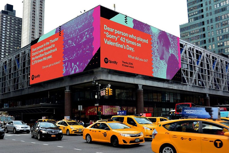 Spotify billboard shows example of great copywriting.