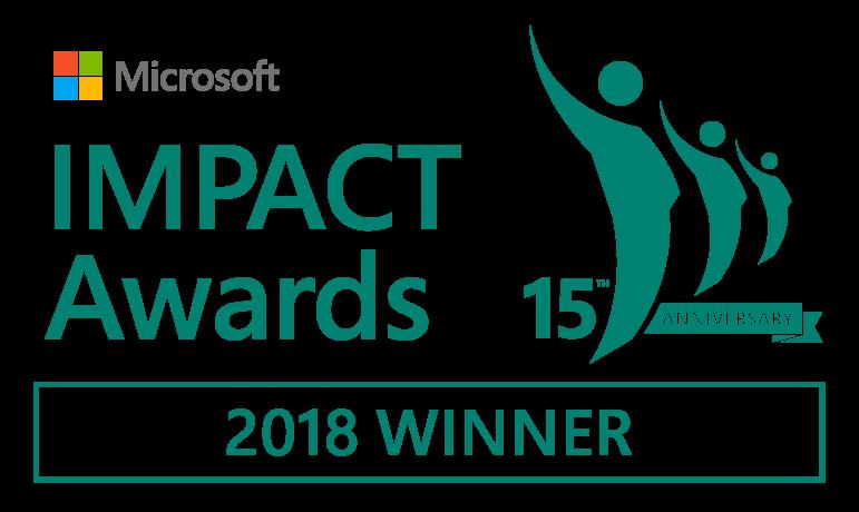 Microsoft Impact Awards 2018 Winner