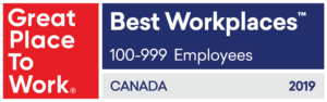 2019 Great Place to Work badge